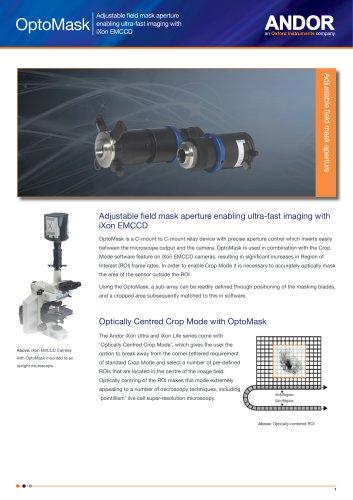 Optomask - Adjustable field mask aperture