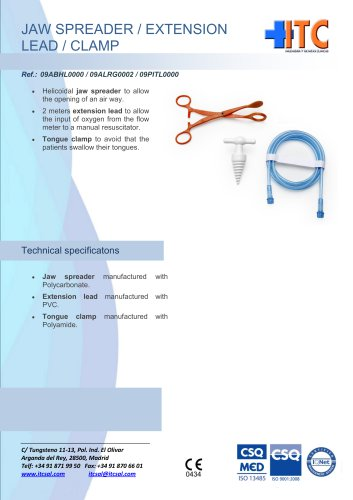 Jaw spreader/extension lead / clamp
