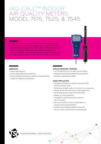 Indoor Air Quality Meters - 7515, 7525, 7545