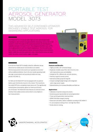 Portable Test Aerosol Generator Model 3073