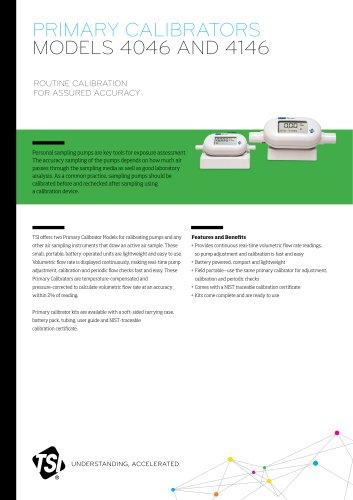 PRIMARY CALIBRATORS MODELS 4046 AND 4146