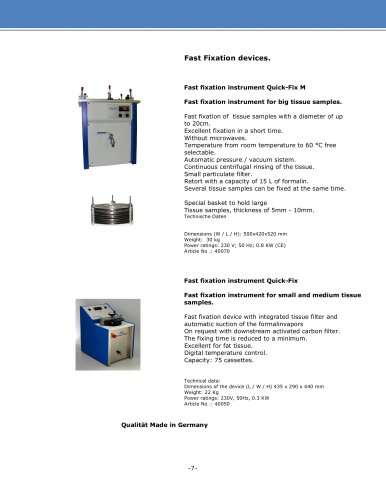 Fast fixation instrument Quick-Fix