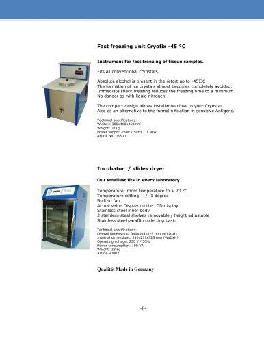 Fast Freezing Instrument Cryostat