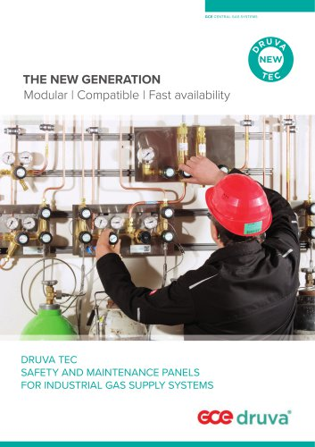 DRUVA TEC SAFETY AND MAINTENANCE PANELS FOR INDUSTRIAL GAS SUPPLY SYSTEMS