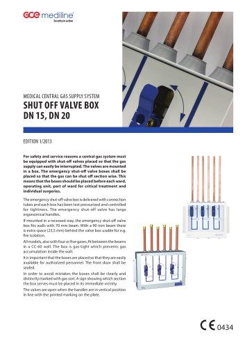 SHUT OFF VALVE BOX DN20