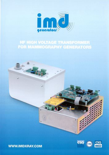 HF HIGH VOLTAGE TRANSFORMER FOR MAMMOGRAPHY GENERATORS