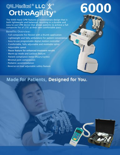 OrthoAgility 6000 Hand CPM Specification Brochure