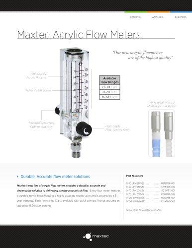 Maxtec Acrylic Flow Meters