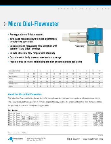 Micro Dial-Flowmeter