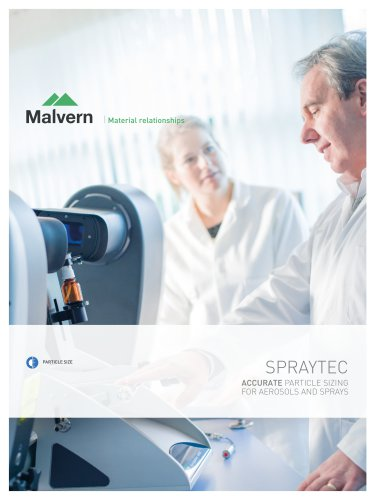Spraytec - Accurate particle sizing of aerosols and sprays