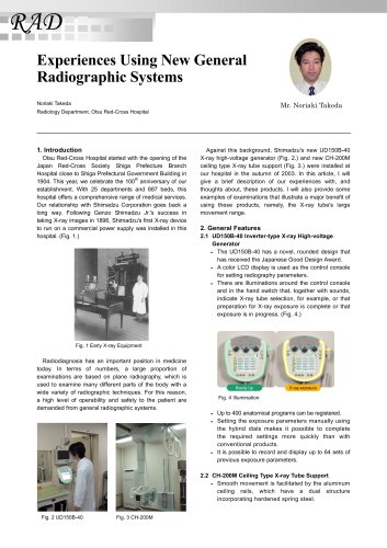 Experiences Using New General    Radiographic Systems