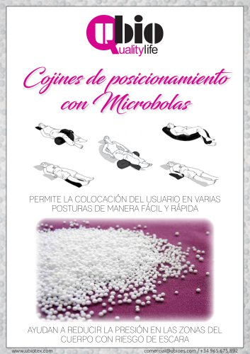 Catálogo cojines posicionadores microbolas