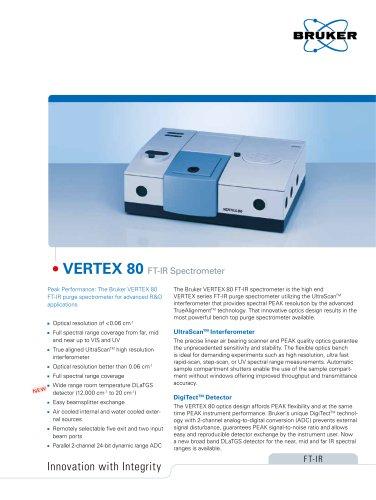 VERTEX 80 FTIR Spectrometer