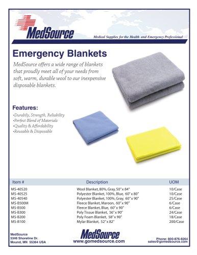 Fleece Emergency Blanket