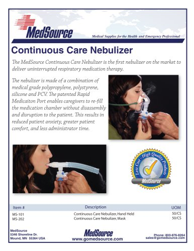 MedSource Continuous Care Nebulizer