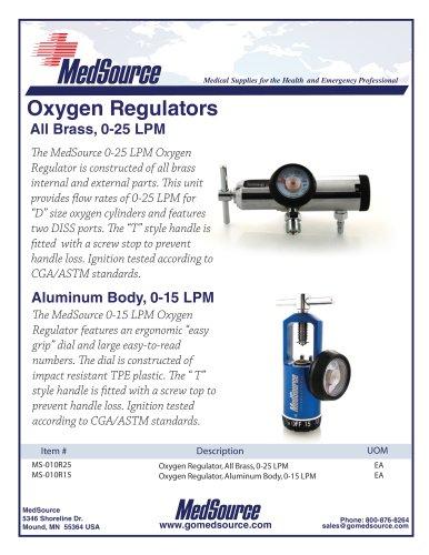 Oxygen Regulator with Gauge