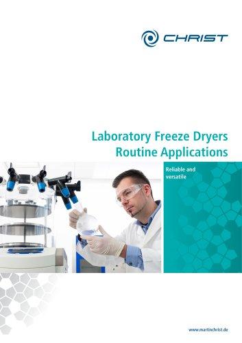 Laboratory Freeze Dryers Routine Applications