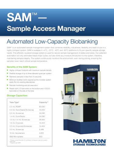 SAM™ - Sample Access Manager