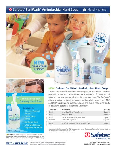 SaniWash® Antimicrobial Hand Soap