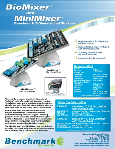 BioMixer™ & MiniMixer™ (3D) Rocker