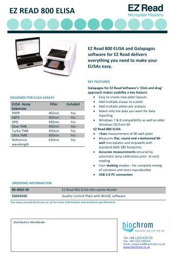 Biochrom EZ Read 800 Microplate Reader